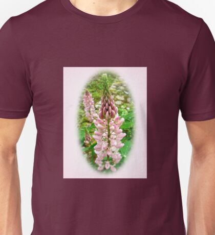 Pink Lupin Flowers Unisex T-Shirt