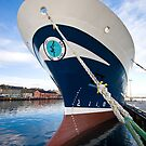 Zephyr in Lerwick Harbour, Shetland Islands, Scotland by Del419