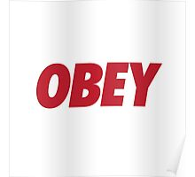 OBEY - Red Poster