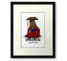 Suupurrrheroes - Spidercat Framed Print