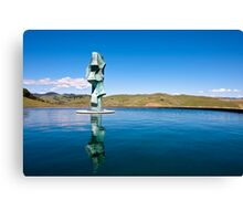 Statue in Napa Valley Canvas Print