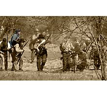 civil war re-enactment Photographic Print