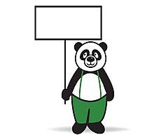 Panda Sign Photographic Print