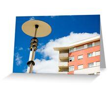 Modern street lamp Greeting Card