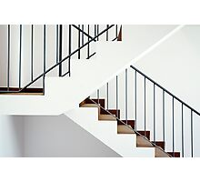 Flight of stairs in a new house Photographic Print