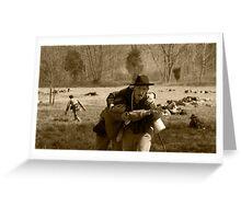 civil war re-enactment Greeting Card