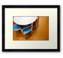 Kindergarten activities room Framed Print