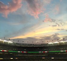 Sunset at Yankee Stadium Night Game by jcooper10