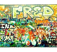 John Lennon Wall, Prague. Photographic Print