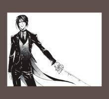 Simple Sebastian Michaelis One Piece - Short Sleeve