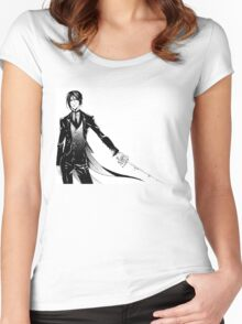 Simple Sebastian Michaelis Women's Fitted Scoop T-Shirt