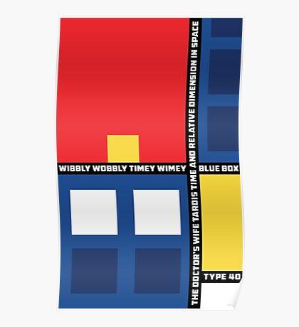 Mondrian Who Poster