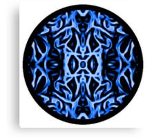Circle Of Energy (Blue) Canvas Print