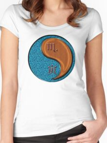 Scorpio & Tiger Yang Wood Women's Fitted Scoop T-Shirt
