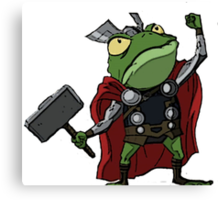 Thor, Frog of Thunder Canvas Print