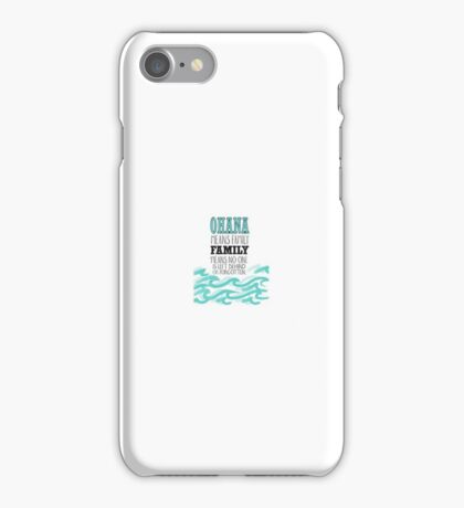 OHANA ~From Lilo And Stich~ iPhone Case/Skin