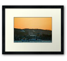 Two Boats In The Harbor | Miller Place, New York  Framed Print