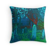 Rainbow Graveyard Throw Pillow