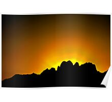 Sunrise Over the Peaks of the Organ Mountains Poster