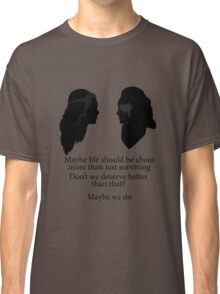 Clexa - More Than Just Surviving  Classic T-Shirt