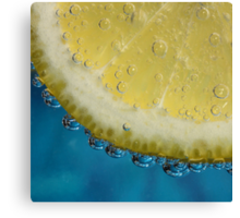 G and T With a Slice of Lemon Canvas Print