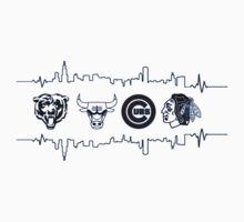 Chicago Sports Heart Beat 2 Kids Clothes