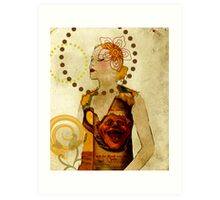 Lady Voila and Black Ribbon Art Print