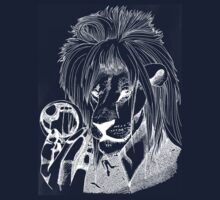 Goblin King of the Jungle (White Line) by Zombiepan
