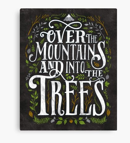 Over The Mountains And Into The Trees Canvas Print