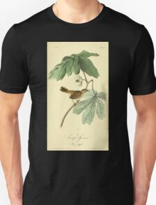 James Audubon Vector Rebuild - The Birds of America - From Drawings Made in the United States and Their Territories V 1-7 1840 - Swamp Sparrow T-Shirt