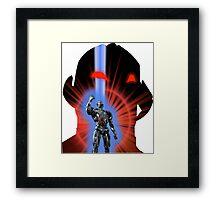 Avengers Ultron Silhouette Framed Print