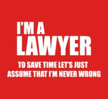 I Am A Lawyer Kids Clothes