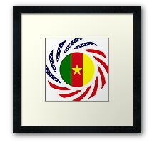 Cameroon American Multinational Patriot Flag Series 1.0 Framed Print