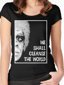 Omega Man - We Shall Cleanse the World Women's Fitted Scoop T-Shirt