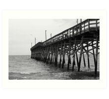 Holden Beach Pier-2 Art Print
