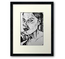 Empty Stare Framed Print