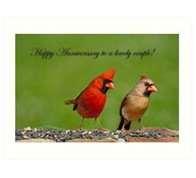 Happy Anniversary to a Lovely Couple Art Print
