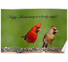 Happy Anniversary to a Lovely Couple Poster