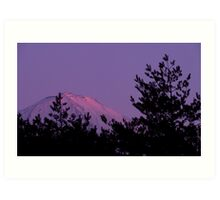 Mt Fuji at dusk Art Print