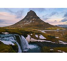 Kirkjufell, Grundarfjordur, Snaefellsnes, Iceland Photographic Print