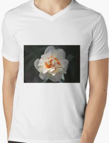 Blooming Double Daffodil  Mens V-Neck T-Shirt