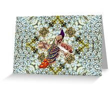 Peacocks and Feathers Greeting Card
