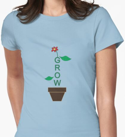 Grow Womens Fitted T-Shirt
