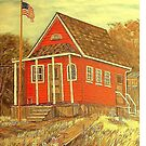 Red School House by KenLePoidevin