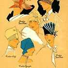 French style 1920s elegant hats for women by coralZ