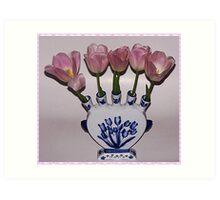 Vase With Tulips Art Print