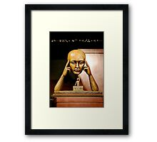 Masking my thoughts... Framed Print