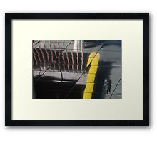 walking the lines Framed Print