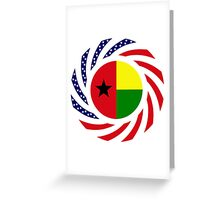 Guinea Bissau American Multinational Patriot Flag Series Greeting Card