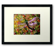 Stained Glass Dragonfly... Framed Print